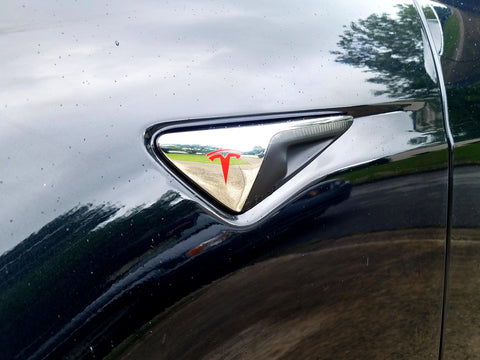 Model S Side Lights Logo Decal
