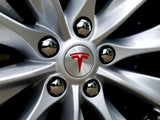 Model S Center Wheel Caps Logo Decal