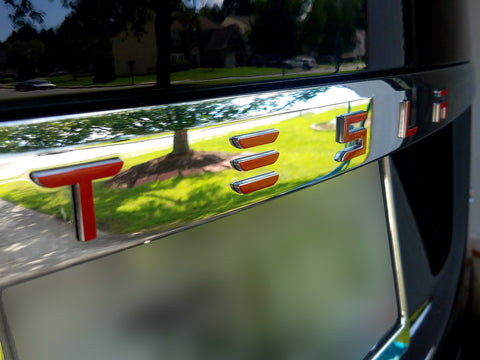 "Model S New Fascia Trunk ""TESLA"" Logo Decal"