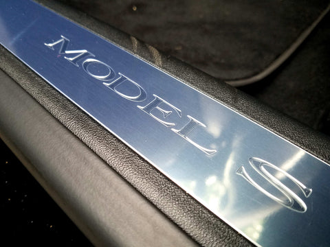 Tesla Model S Door Sill Clear Protection Vinyl