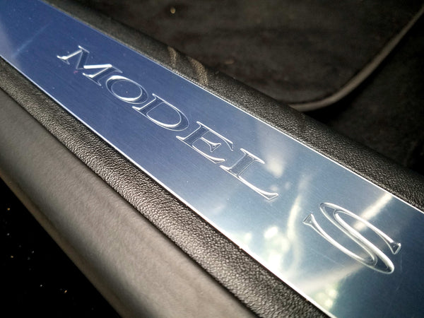 Model S Door Sill Clear Protector - Clear