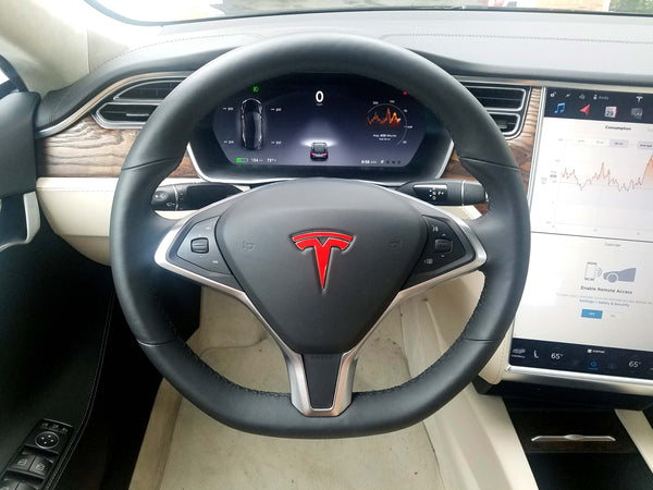 Model S Steering Wheel Logo Decal