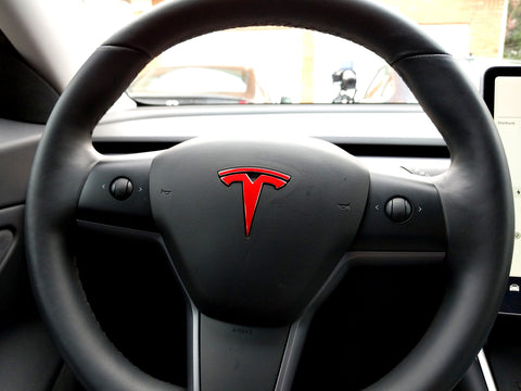 Tesla Model 3 Steering Wheel Logo Decal