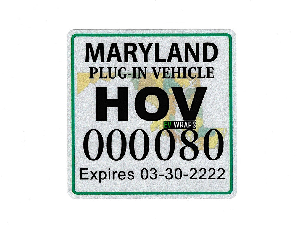 Maryland HOV Stickers Protection Film