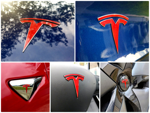 Tesla Model 3 Logo Decal Bundle