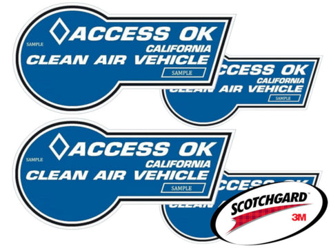 California HOV Stickers Protection Film