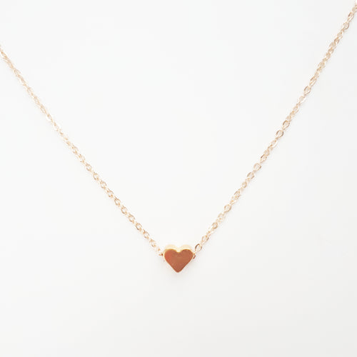 Heart Necklace. [Gold]
