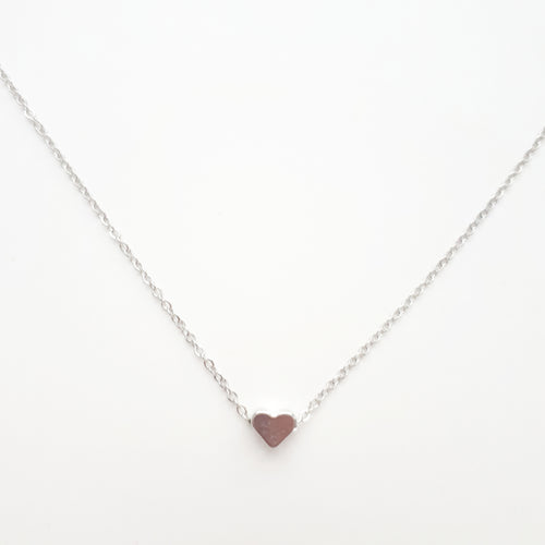 Heart Necklace. [Silver]