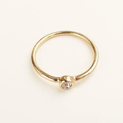 Single Stone Ring [Gold]