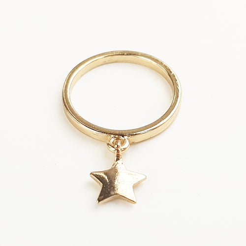 Star Drop Ring [Gold]