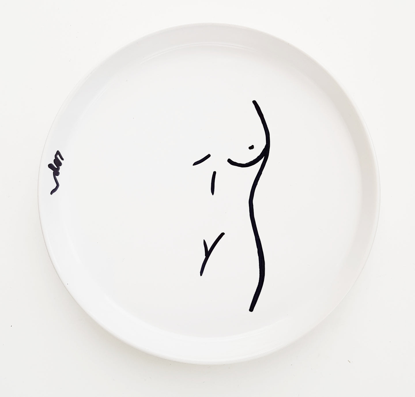 Limited Edition Ceramic Unique Abstract Body Jewellery Dish. [White]