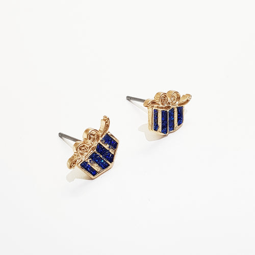 Christmas Present Stud Earring. [Gold]