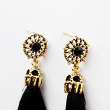 Drop Fringe Earring [Black]
