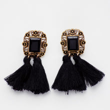 Jewel Fringe Earring [Black]
