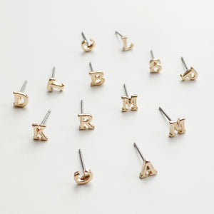 Initial Earring (A-Z) Available. [Gold]