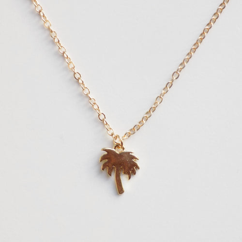 Palm Tree Necklace [Gold]