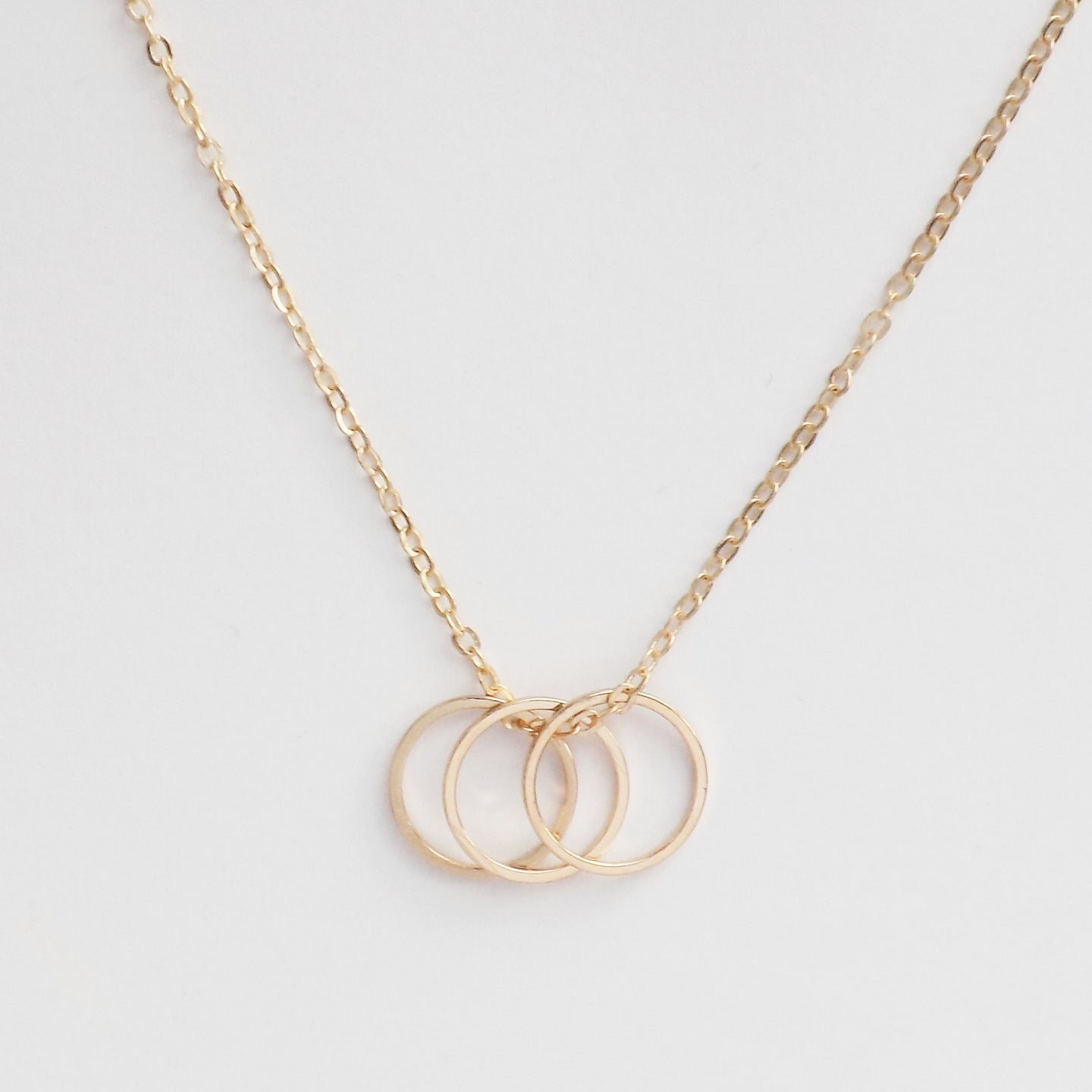 Triple Karma Necklace. [Gold]