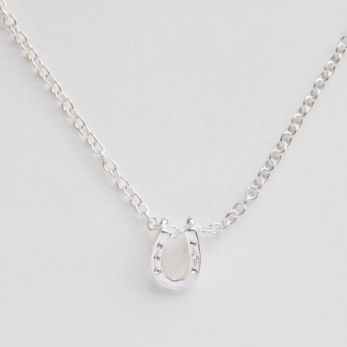 Lucky Horseshoe Necklace. [Silver]