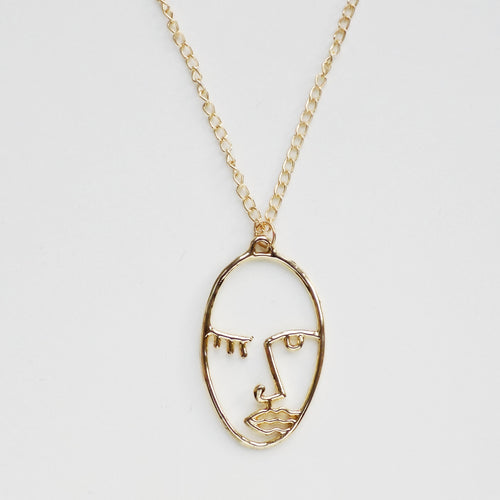 2Faced Necklace. [Gold]