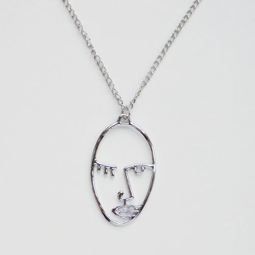 2Faced Necklace. [Silver]