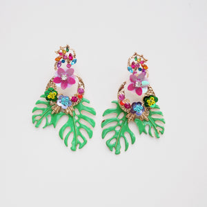 Embellished Tropical Earring [Gold]