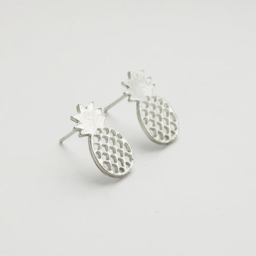 Pineapple Earring. [Silver]