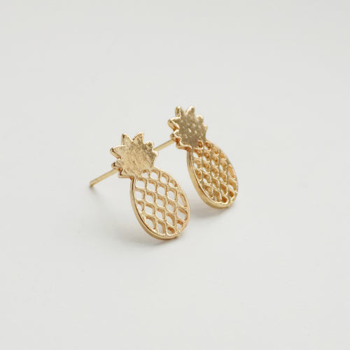 Pineapple Earring. [Gold]