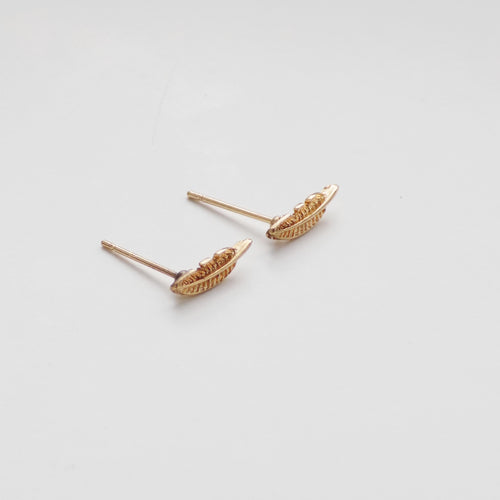 Feather Earring. [Gold]