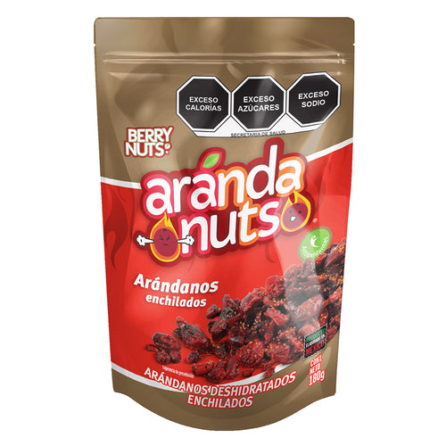 Arandanuts®  Arándanos Enchilados by Berry Nuts® 180 g.