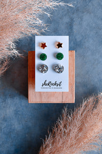 MULTI PACK XMAS - STAR/GREEN/SILVER
