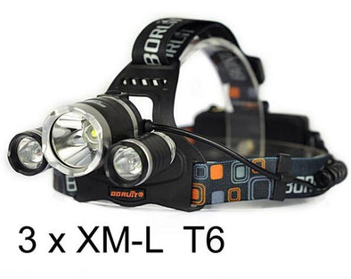 Tactical Torch XM-L T6 + Headrest 5000Lumens