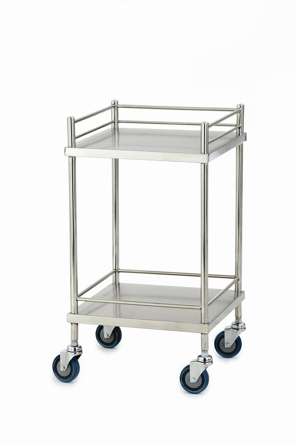 Stainless Steel Trolley -  Single No drawer