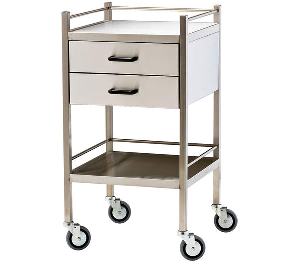 Stainless Steel Trolley - Single two Drawers