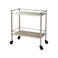 Stainless Steel Trolley - Double No Drawer