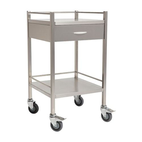 Stainless Steel Trolley -  Single one Drawer