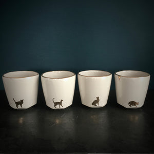 Tumbler set - gold cats