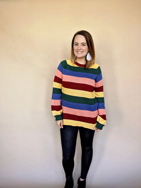 Fall Rainbow Sweater