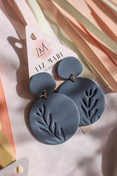 Large Round Clay Earrings