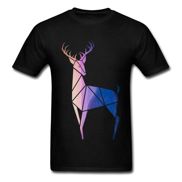 Sunset Deer Sacred Geometry T-Shirt