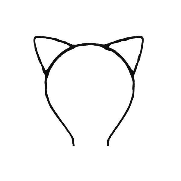 Cat Ears - Black Party Cat Ears