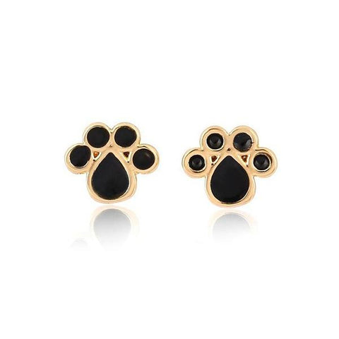 Earrings - 2-Tone Cat Paw Earrings