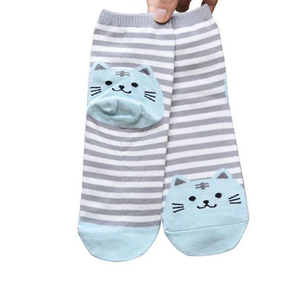 Socks - Double The Fun Kitty Socks