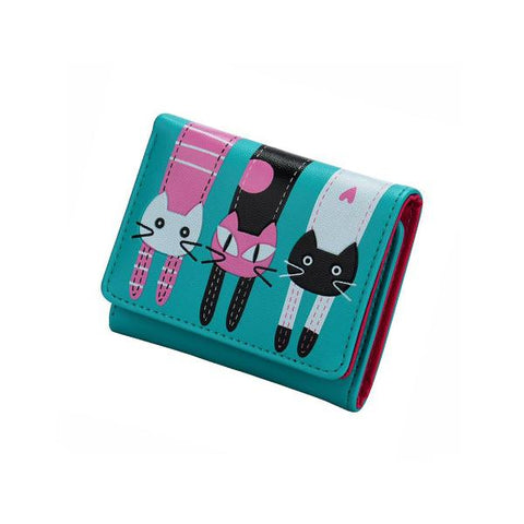 Wallet - 3 Cats Womens Short Wallet