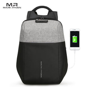 "Anti-Theft USB Charging 15.6"" Technology Backpack"