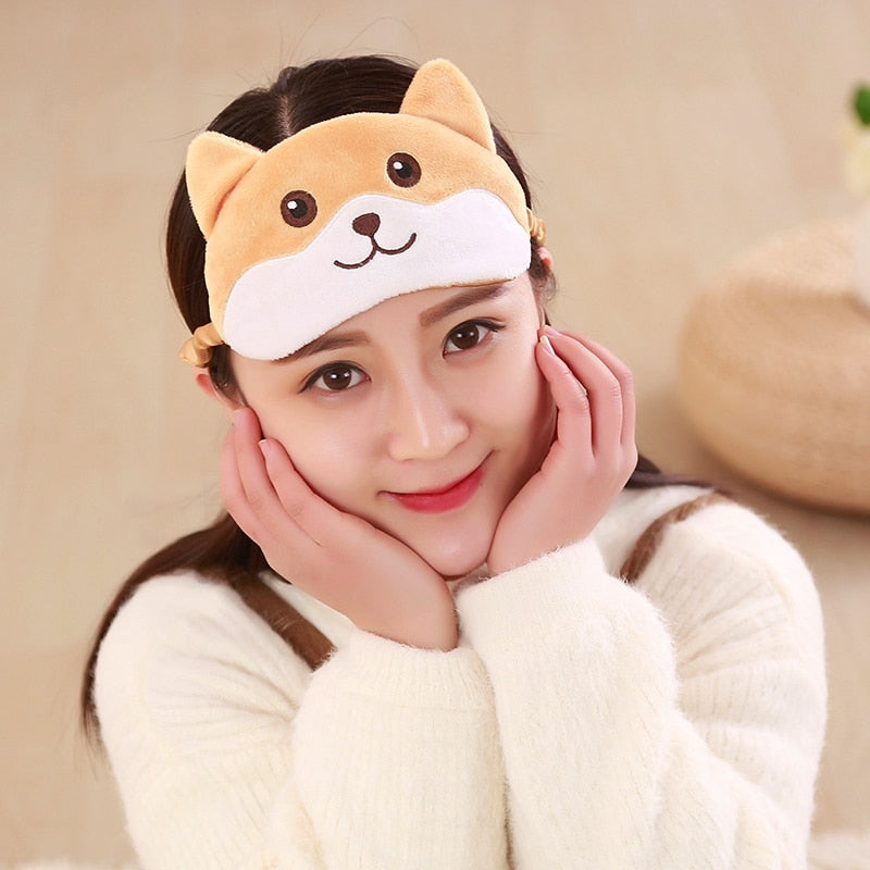 Cute Corgi Eye Mask Shade
