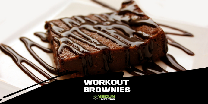 Chocolate Peanut Butter Workout Brownies