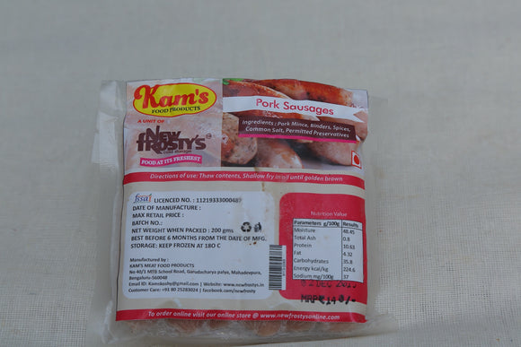 Kam's Pork Plain Sausage 200 gm