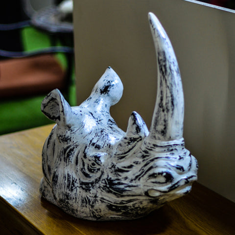 Animal Statue Rhino Head