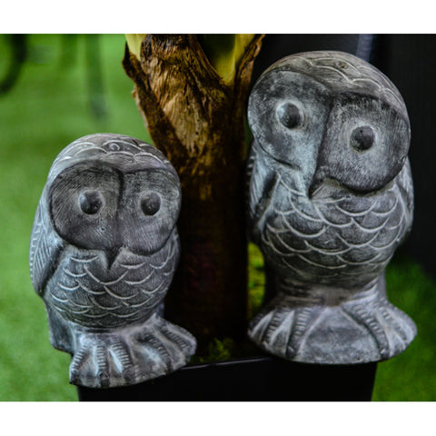 Animal Statue Owl Set of 2