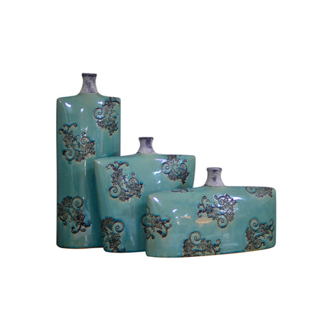 Vase Flower Receptacle Green